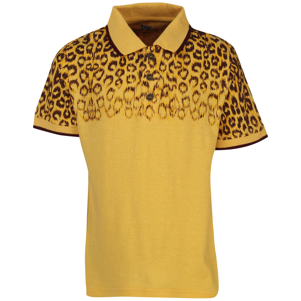 Bells and Whistles Tiger Spots Tee with Collar