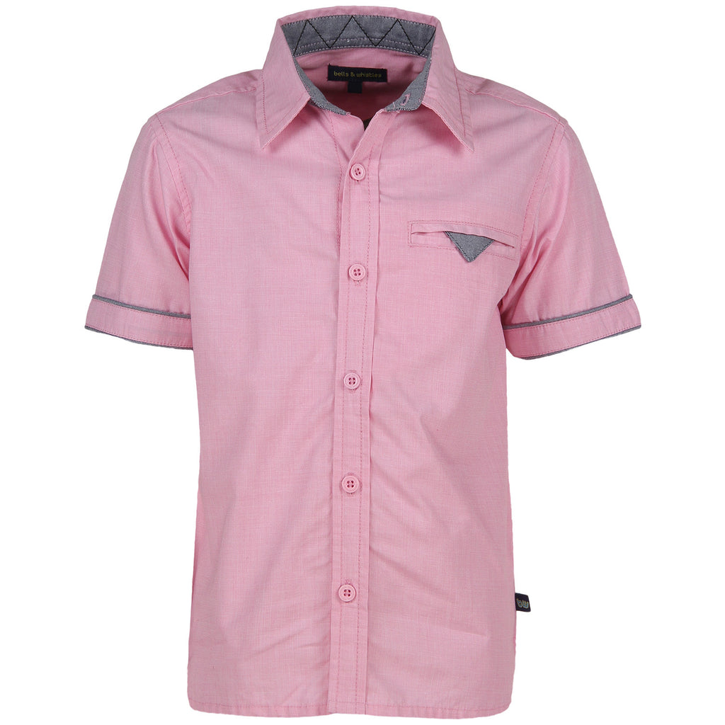 Bells and Whistles Mill-made Giza Cotton Filafil Shirt with Peach Finish