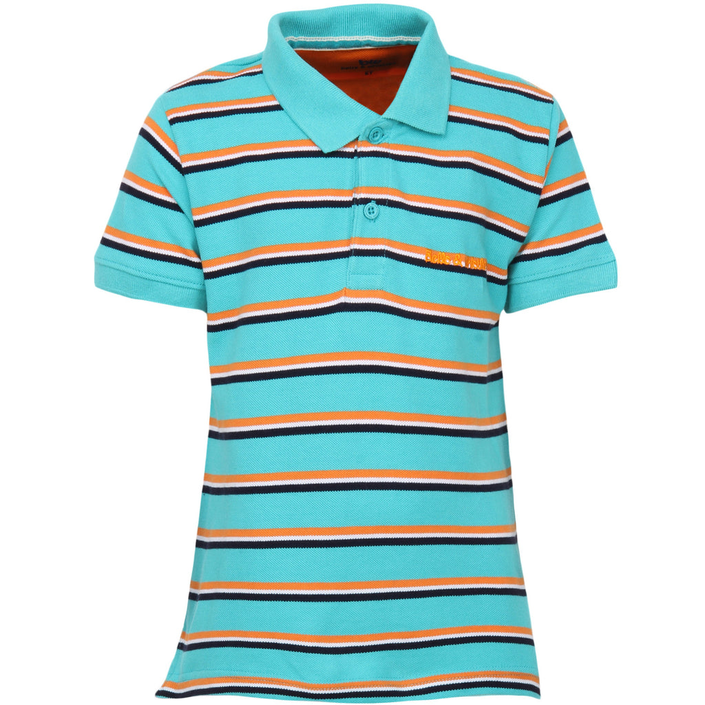 Bells and Whistles Light Blue Striped Pique Polo