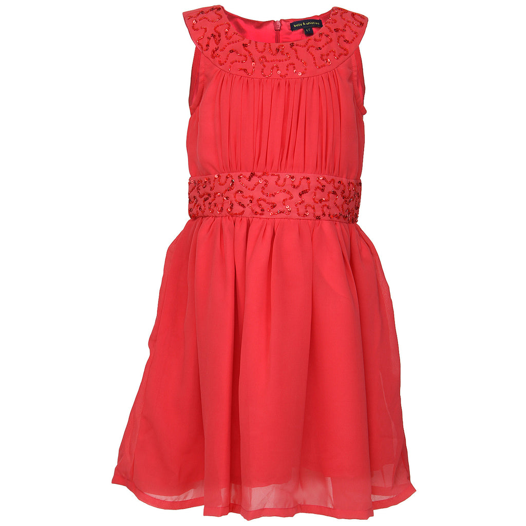 Bells and Whistles Coral Party Dress
