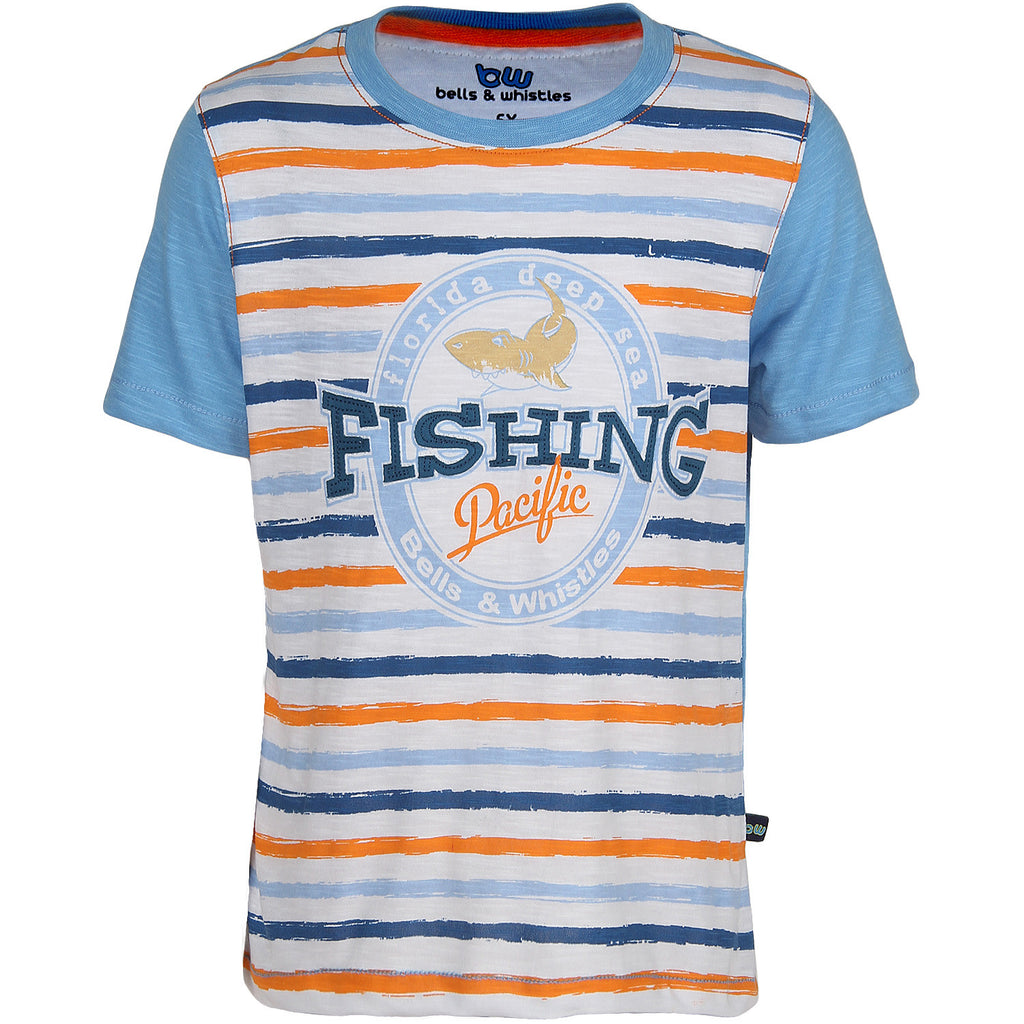 Bells and Whistles Striped Fishing Tee