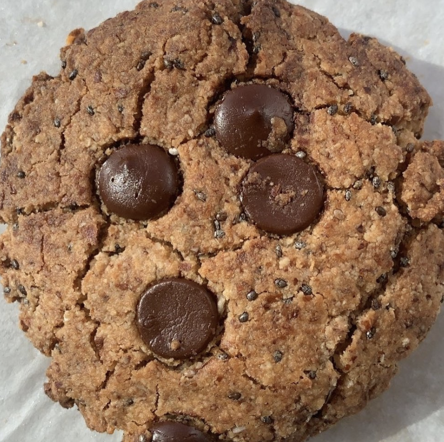 Paleo Choc Chip + Chia Almond Cookies