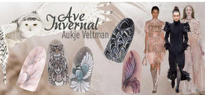 Step by step Ave Invernal by Aukje Veltman from Magnetic Nails Design