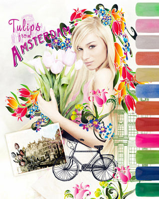 108204 Pro Formula Tulips from Amsterdam Coloured Acrylic Collection