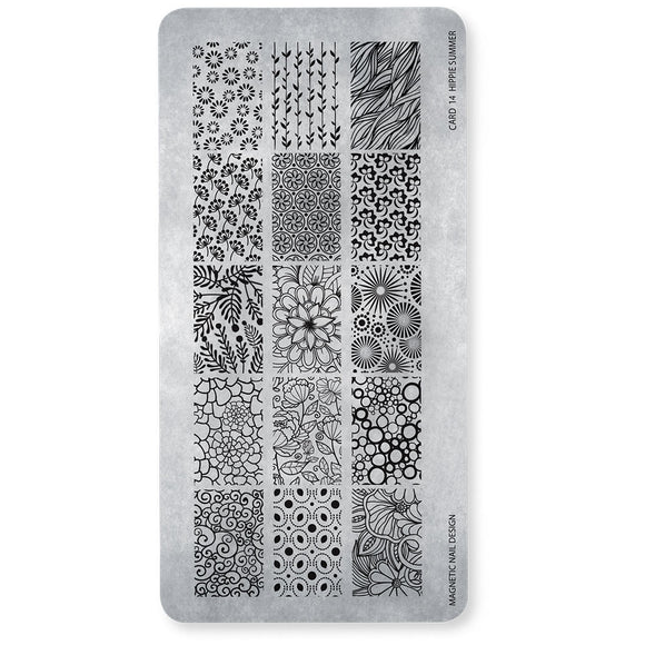 118617 Stamp Plate Hippie Summer