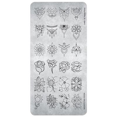 118621  Stamping Plate  Happy Floral