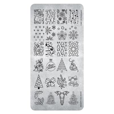 118629 Stamping Plate Christmas 2
