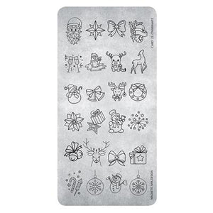 118630 Stamping Plate Christmas 3