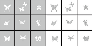 289689 AirNails Masking Butterfly Collection