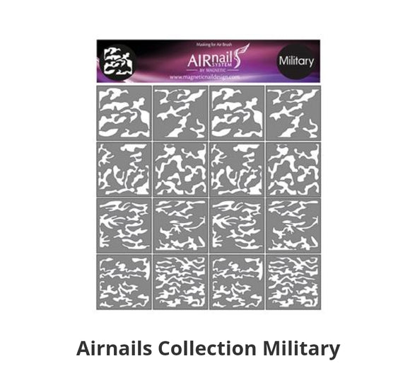 289737 AirNails Masking  Collection Military