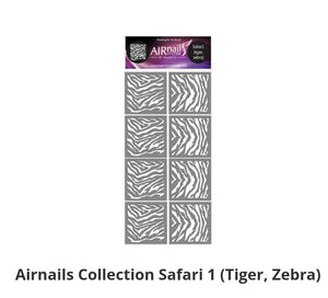 289734 AirNails Masking  Collection Safari /Tiger, Zebra