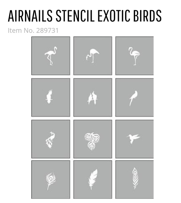 289731 AirNails Masking  Collection Exotic Birds