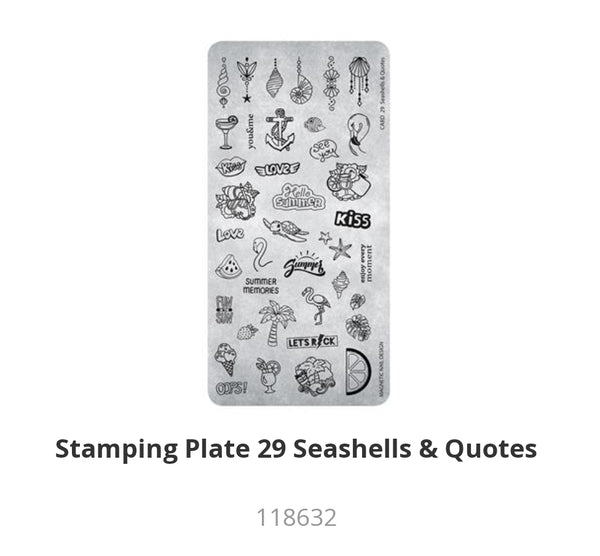 118632 Stamping Plate Seashells and Quotes
