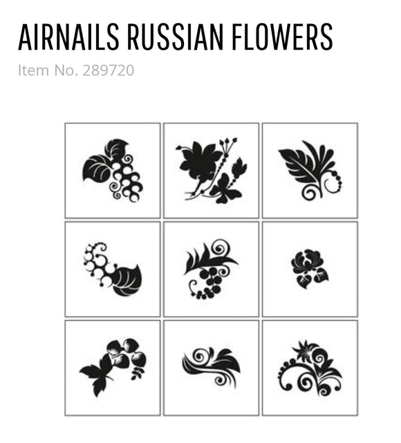 289720 AirNails Masking Russian Flowers Collection