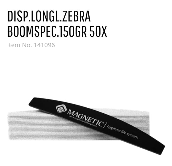 141096 Disposable LongLasting Zebra Boomerang 150grit 50pcs
