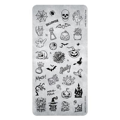 Stamping Plate Trick or Treat