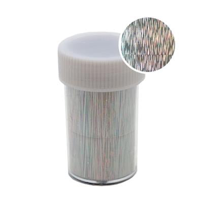 Transfer foil Roll 1.5m Holographic Silver Strips