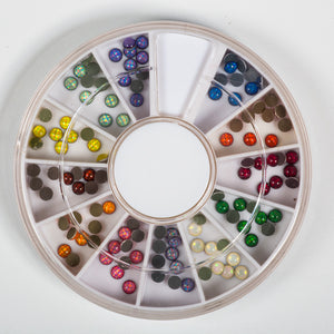 117885 Hologr.Rhinest.Med. 120pc in Wheel