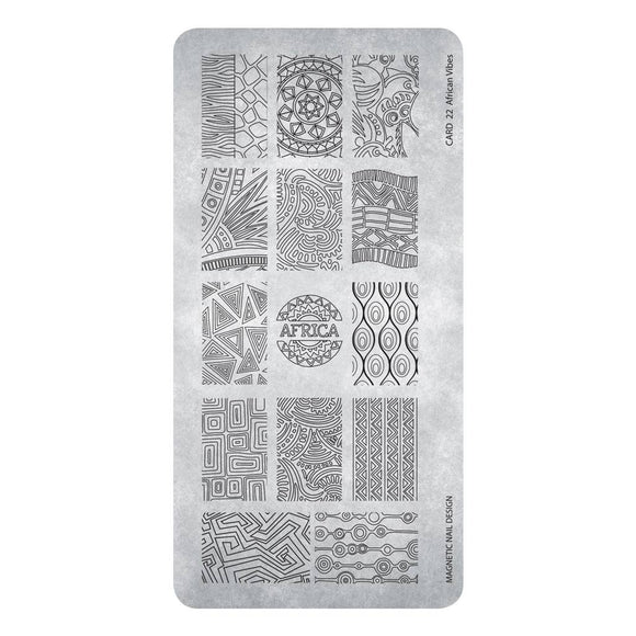 118625  Stamping Plate  African Vibes