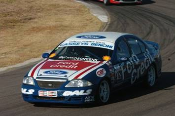 Steve Wyndham racing a Ford Falcon V8