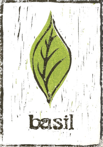 Basil - A5 Brown Print