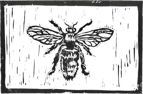 Bee - A5 Brown Print