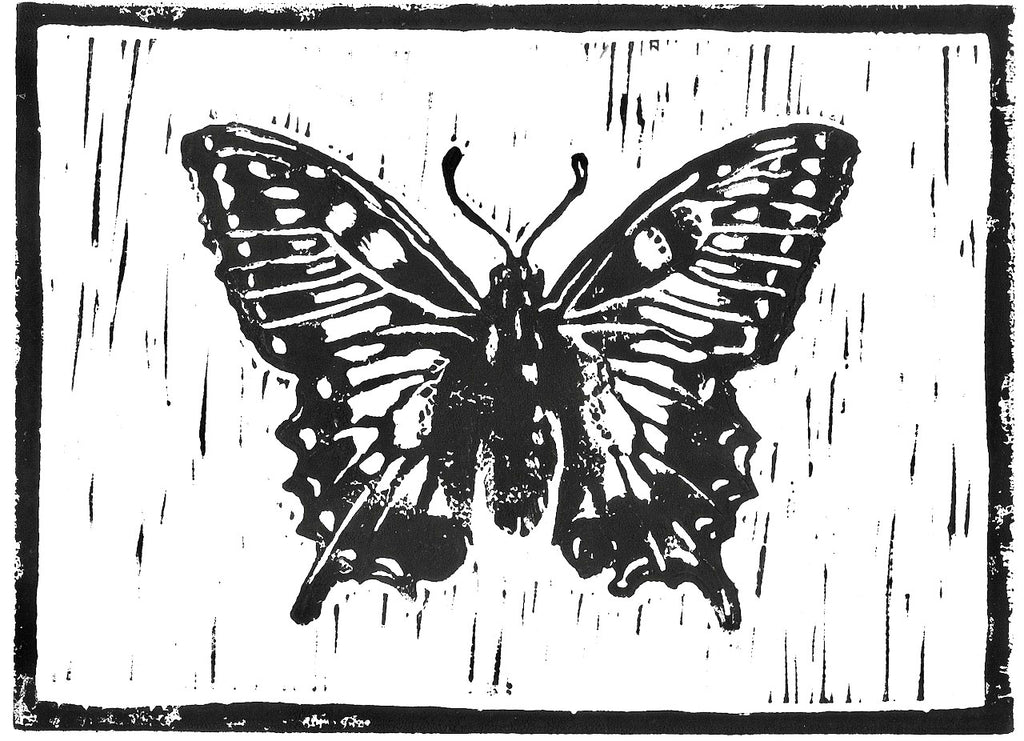 Butterfly - A5 Brown Print