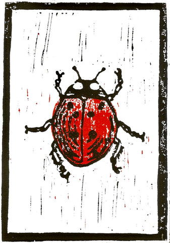 Ladybird - A5 Brown Print