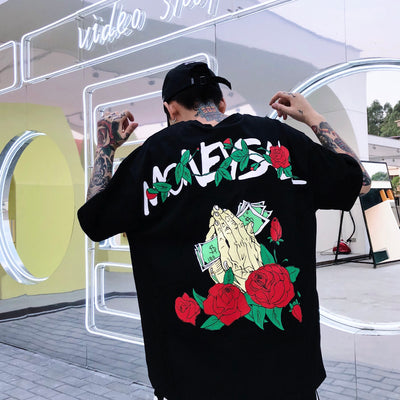 "F3ML 18SS Rose ""Money Is All"" Tee MEN"