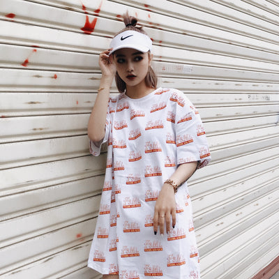 F3ML 18SS Full Printed Font Tee WOMEN