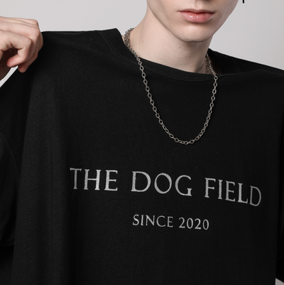 The Dog Field -  Classic Black Tee