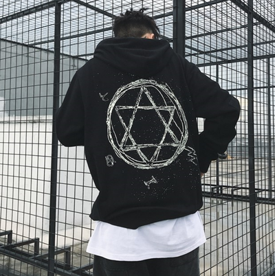 "F.E.R 18SPRING ""Star of David NightGlow"" Hoodie Part 1 (UNISEX*)"