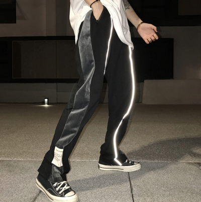Lighting Reflective Striped Trousers (UNISEX*)