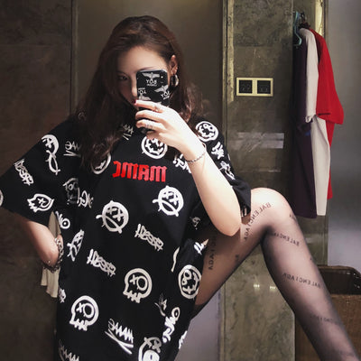 "MAMC 18SS "" Smile Face"" Tee WOMEN"