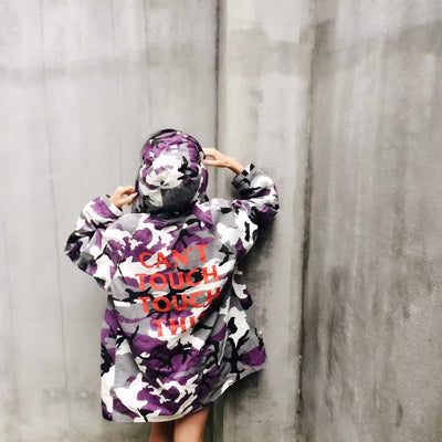 SuaMoment Camouflage Wind Coat