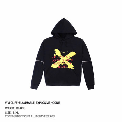 "ViVi.Cliff ""Comic Flame"" Hoodie Men"