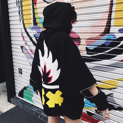 "ViVi.Cliff ""Comic Flame"" Hoodie Women"