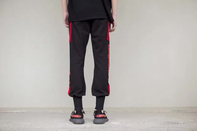 No Gender 17SS Red Letter Joggers