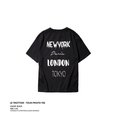 "Le Trottoir 17ss ""World Tour"" Tee (UNISEX*)"