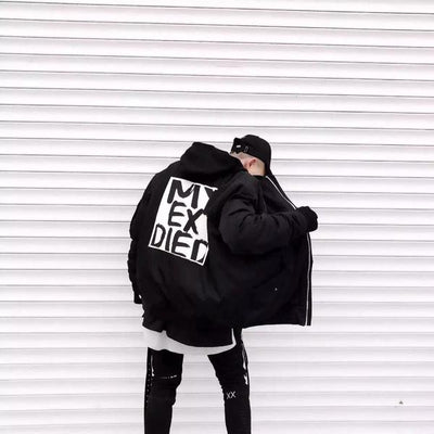 "LE TROTTOIR 18S/S ""MY EX DIED"" BOMBER JACKET"