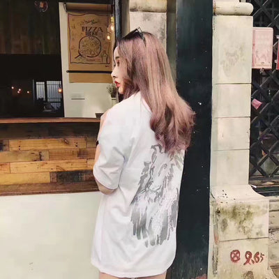 Bound.X 17ss Lion Print Tee Women