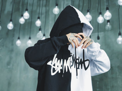 Suamoment 17F/W Two Tone Claw Mark Hoodie (*UNISEX)