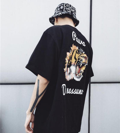 "MOSSI 17ss Stitch ""Tiger"" Tee Men"