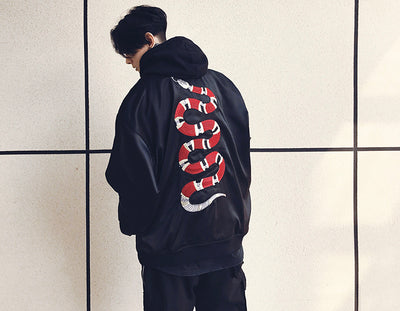 ViVi Cliff x AME 17FW Snake Baseball Jacket Men