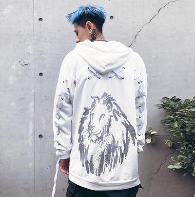 "Bound.X ""Lion"" Weave Hoodie Men"