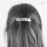 Scale Hair Barrette - Silver and Gold