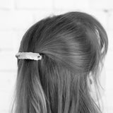 Scale Hair Barrette - Blue and Black