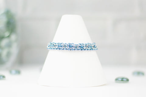 Deco Collection: Micromaille Bracelet - Cool Blue Silver