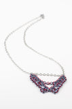 Deco Collection: Micromaille Necklace - Dark Grey and Red