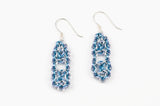 Deco Collection: Micromaille Earrings - Cool Blue Silver